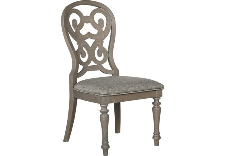 Cindy Crawford Home Coastal Breeze Gray Side Chair .129.99. 22W x 25D x 41H. Find affordable Side Chairs for your home that will complement the rest of your furniture.  #iSofa #roomstogo