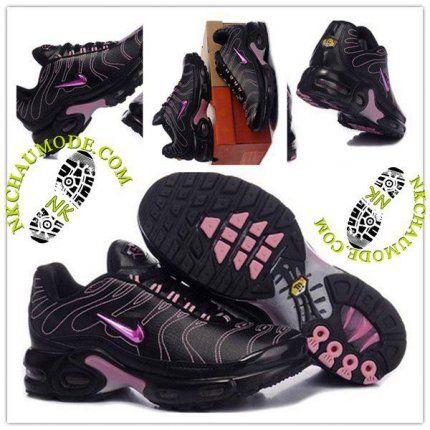 Tendance | Nike Chaussure Sport Air Max Tn Requin Femme Noir Rose-2
