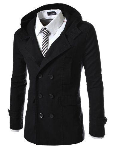 TheLees Mens casual double slim cotton hood trench coat Black Large(US Medium) TheLees http://www.amazon.com/dp/B00BV2R4PK/ref=cm_sw_r_pi_dp_JEjVtb06XKMSH5GZ