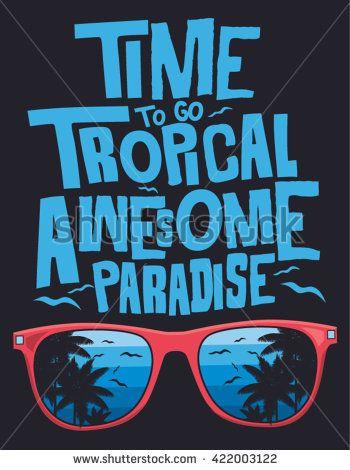 Surf, tropical, typography, t-shirt graphics, vectors.