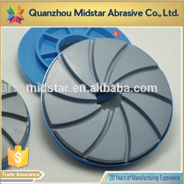 Snail-lock resin edge abrasive disc