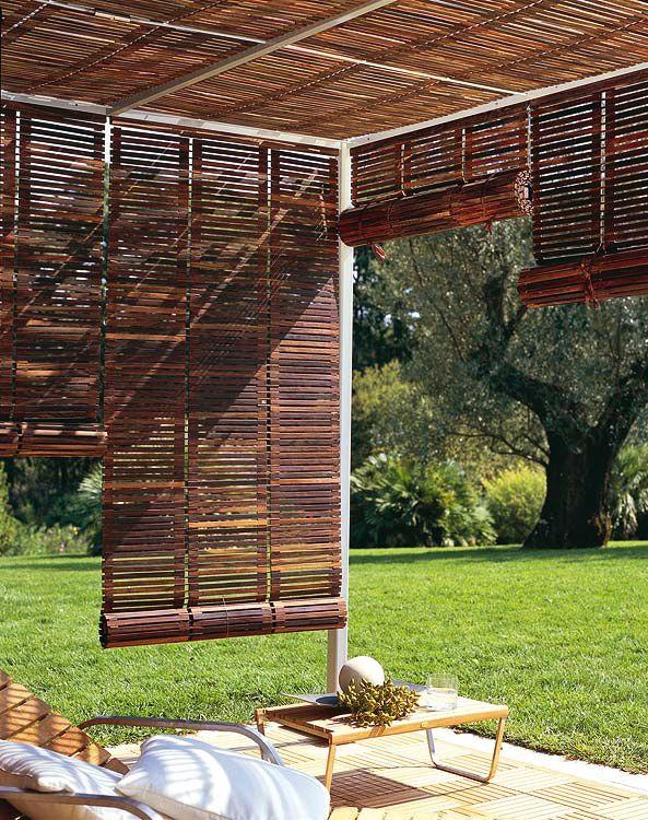 patio pagoda fencing screening garden