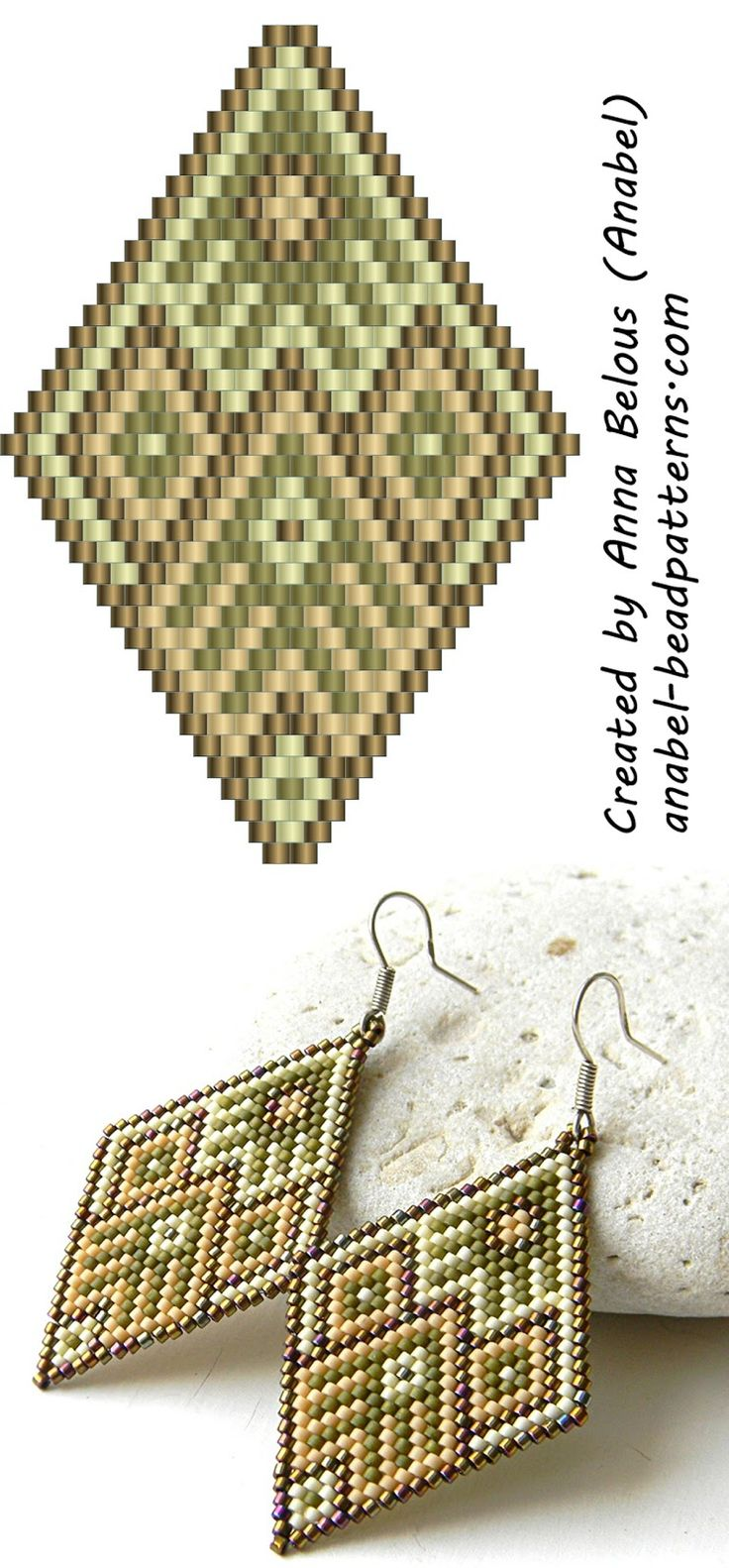 Zeneles kezzel 743 -  Peyote Earrings Pattern