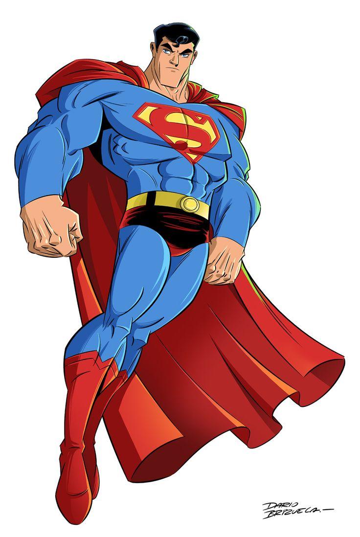 Super Y Cartoon Characters : Superman animation style by dario brizuela comic