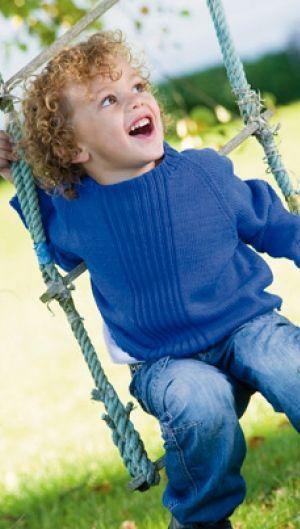 Strikket raglansweater   Familie Journal