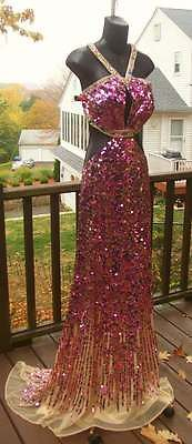 Sherri Hill PINK PURPLE PROM GREAT GATSBY ROARING 20s INSPIRED BLING DRESS (IF I COULD GO TO PROM again)
