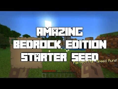 Amazing Bedrock Edition Starter Seed Not Clickbait Minecraft