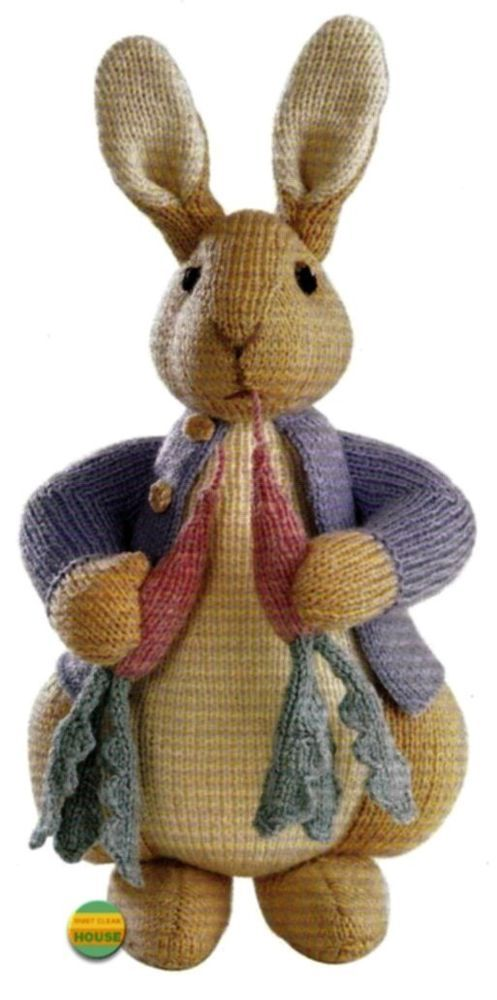 Knitted Rabbit Pattern : Details about ALAN DART - PETER RABBIT - BEATRIX POTTER ORIGINAL TDB TOY KNIT...