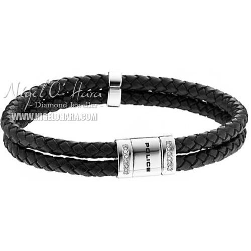 Police Unisex Roadster Small Leather Cord Bracelet - 24652BLB/01-S - £48 - View this item here: http://www.nigelohara.com/police-unisex-roadster-small-leather-cord-bracelet-pj24652blb01s-pid20609.html Or view our full Police Jewellery range here: http://www.nigelohara.com/police-jewellery/