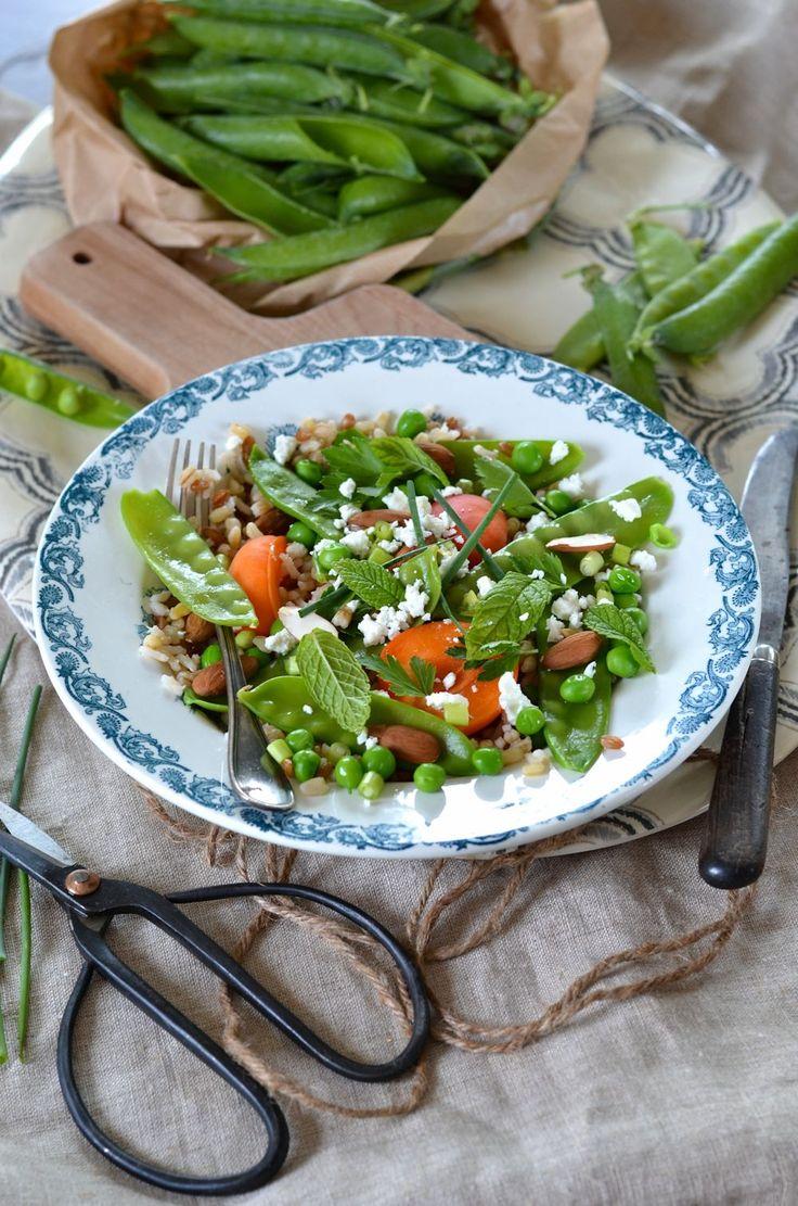 Les 1402 meilleures images du tableau salades 2 - Cuisiner des pois mange tout ...