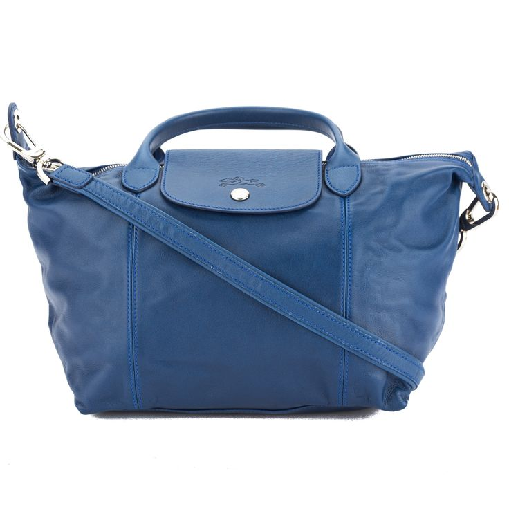longchamp blue metis leather le pliage cuir s top handle bag pinterest top handle bags. Black Bedroom Furniture Sets. Home Design Ideas