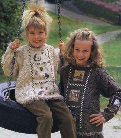 Пуловеры в стиле пэчворк