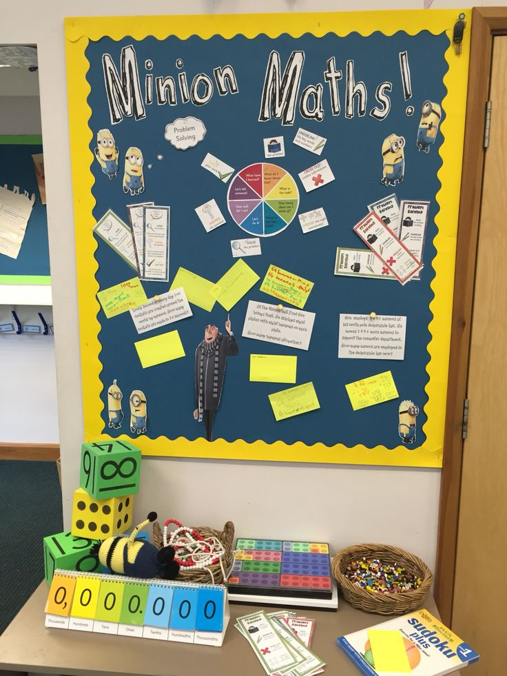Classroom Display Ideas Ks1 ~ Minion maths problem solving display movies minions