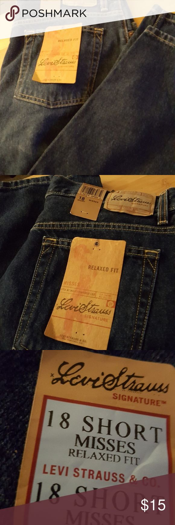 NWT LEVIS STAUSS SIGNATURE JEANS 18 SHORT RELAXED FIT Levi's Jeans