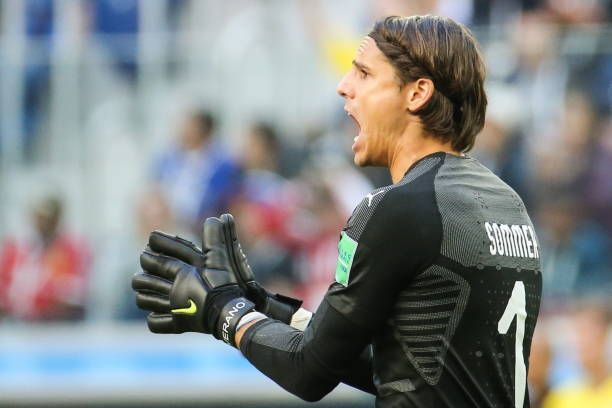 Switzerland S Goalkeeper Yann Sommer Reacts In The Knockout Stage Round Of 16 Football Match Between Sweden And Switzerland Goalkeeper Football Match Knockout