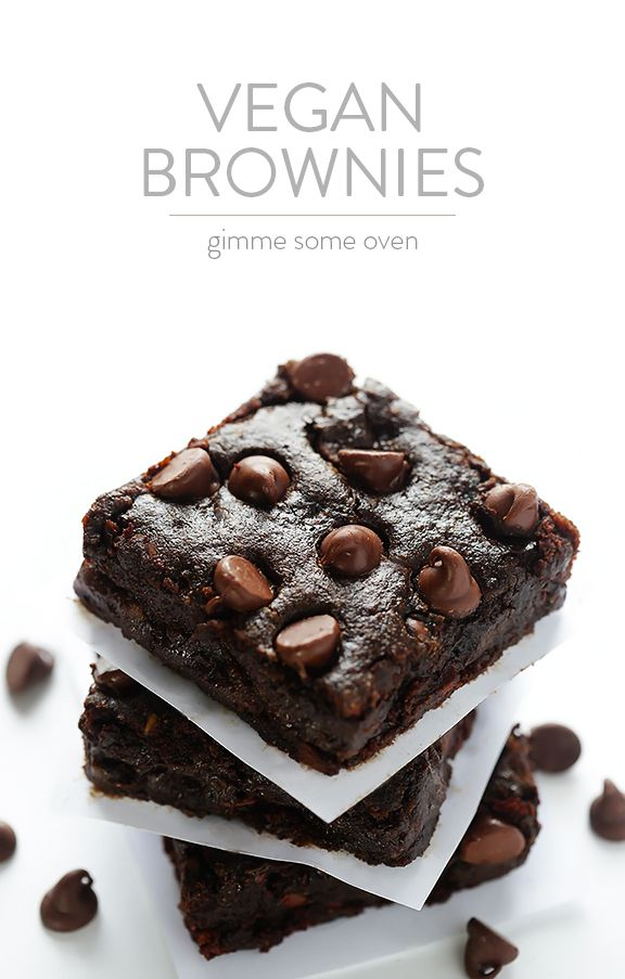 Vegan Brownies -- I would make these gluten free by using Bob's Red Mill Gluten Free all purpose flour.