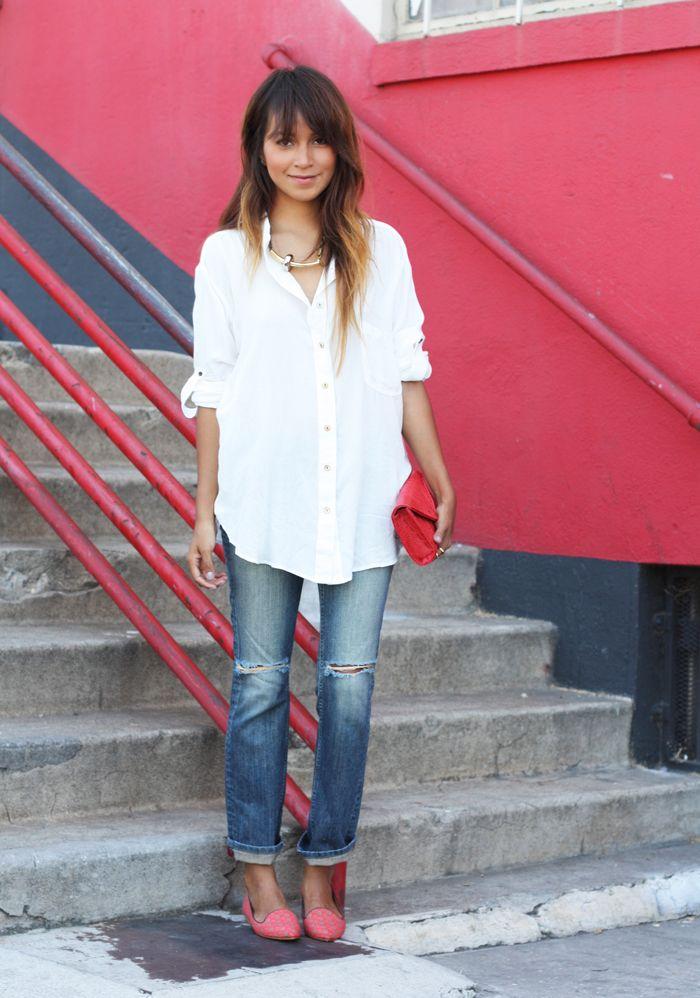 Blouse: Nation LTD   Shoes: Joie   Clutch: JJ. Winters   Necklace: Gabriela Artigas