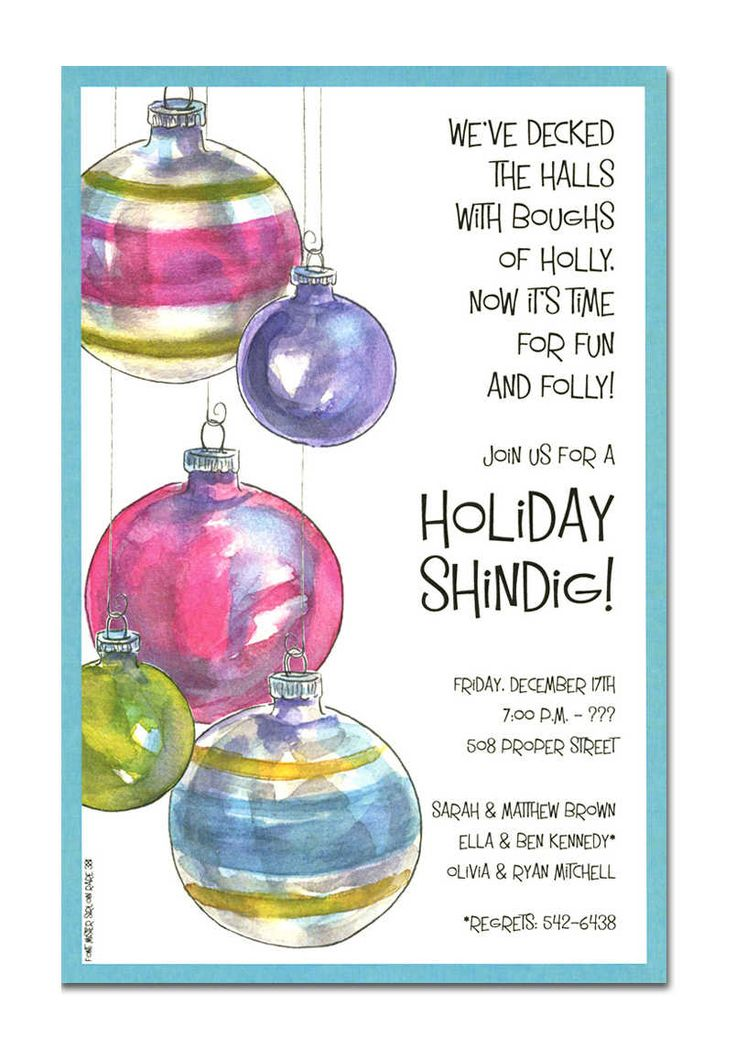 Christmas Open House Invitations - Christmas Open House Invitations for special events