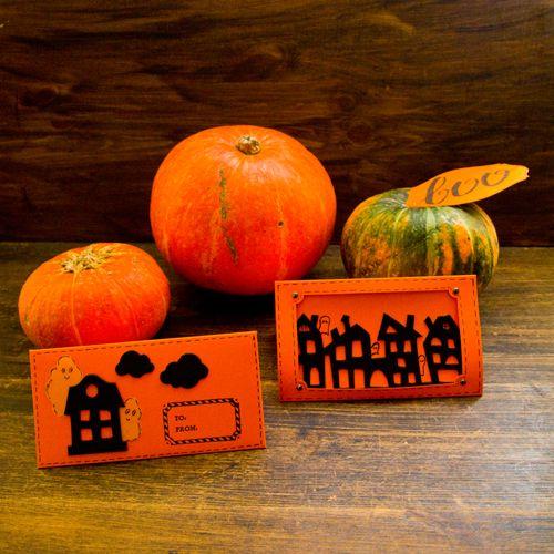 Открытка и конверт для halloween. Мастер-класс по их изготовлению.