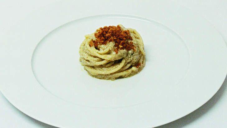 Massimo Bottura's ragu and spaghetti cetarese is no everyday pasta.