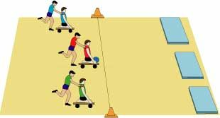 winter olympic ideas using scooter boards