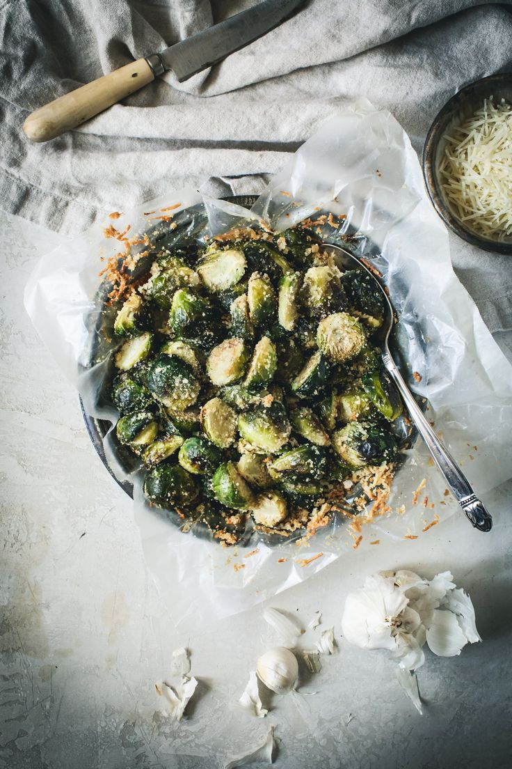 Parmesan Roasted Brussels Sprouts   – food- veggies