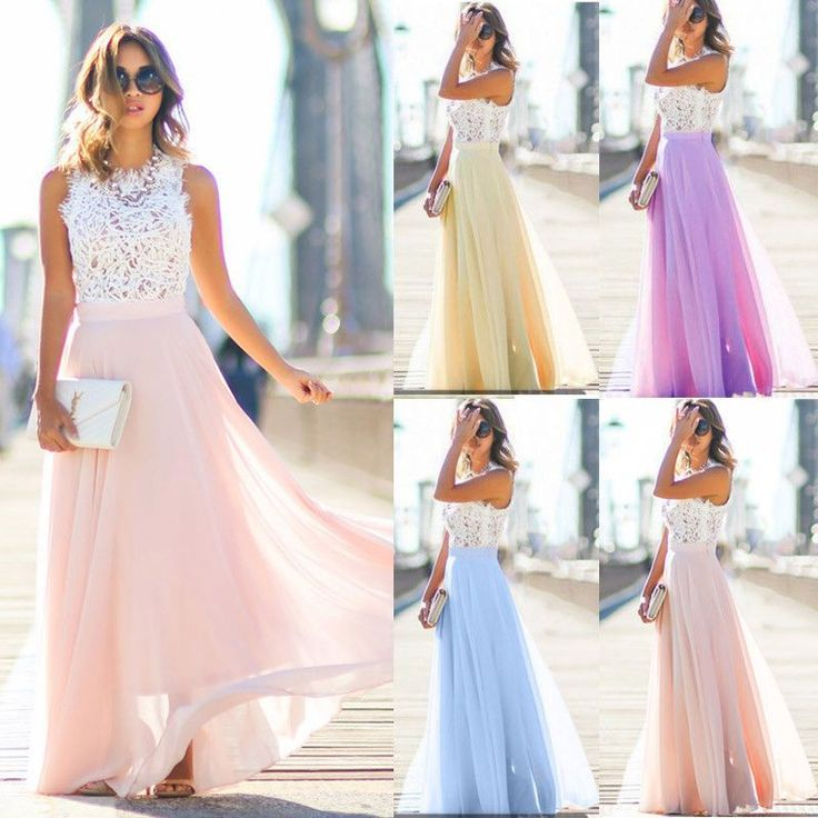 Fashion Women Lady Maxi Prom Dress Evening Party Cocktail Bridesmaid Long Dress  #Unbranded #BallGownBeachDressBlousonMaxi #CasualEveningPartyCocktail