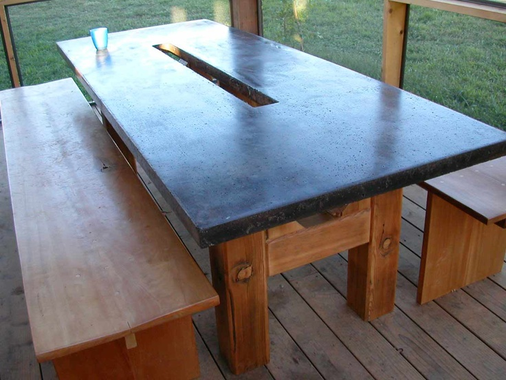 Concrete Table Top ~ On My List Of Things To Make.