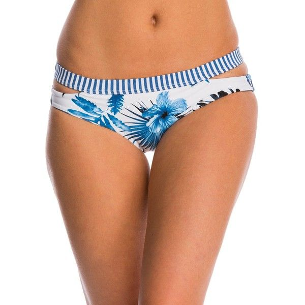 Seafolly Tropic Coast Split Band Hipster Bikini Bottom (1.195 ARS) ❤ liked on Polyvore featuring swimwear, bikinis, bikini bottoms, white, cut-out bikinis, cutout swimsuit, swimsuits bikinis, cut out swimsuit and white bikinis