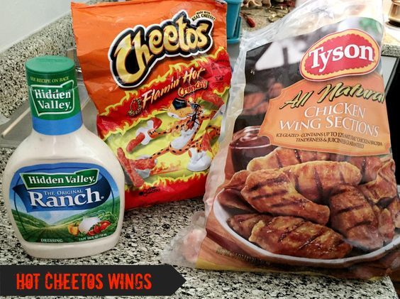Flaming Hot Cheetos Wings Here is another recipe that my boyfriend and I tried for Super Bowl earlier this year. He was initially going to make ranch wings but I showed him this recipe on Pinterest and we decided to give it a go since we had all the ingredients.  Here is what you will need: -1 bag of …