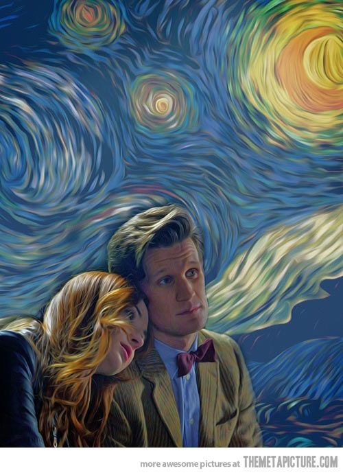 "This is beautiful. Love ""Vincent & the Doctor."" <- Even though it made me cry, half of my tears were happy tears. Definitely one of the most powerful and poetic episodes."