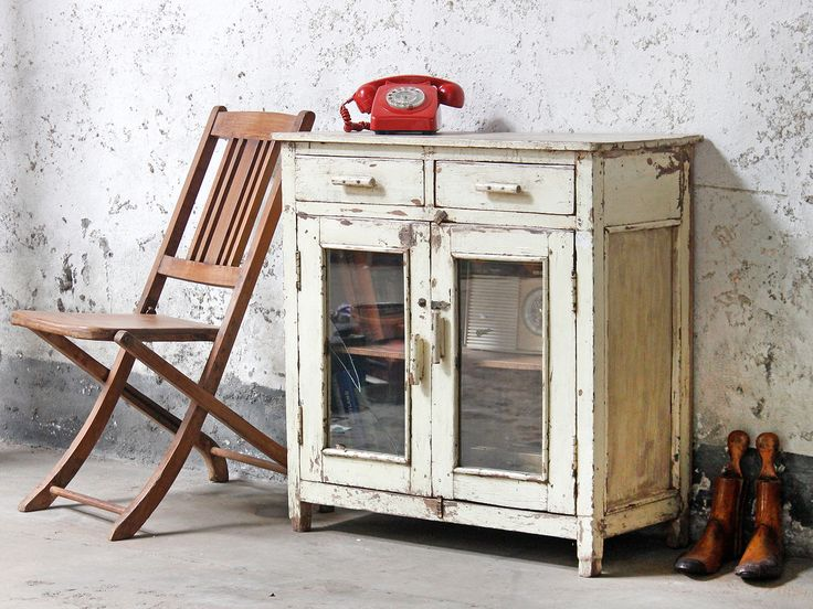 White Storage Cabinet from Scaramanga's vintage interior furniture collection