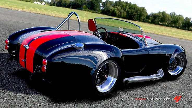 Shelby AC Cobra 427. They say the 427 has a top speed of 160 mph.  Always been my dream car...maybe I'll get a kit one of these days...