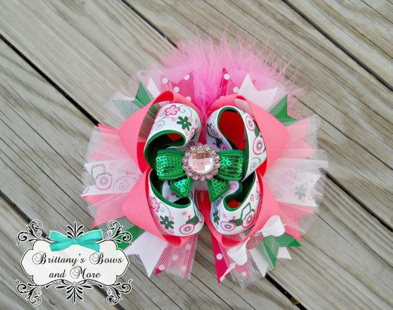 Tractor Girl OTT Hair Bow by BrittanysBowsNMore2 on Etsy, $12.00