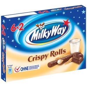 Milky Way Crispy Rolls Wafer with Milk Cream & Milk Chocolate 6x2 Multipack 150g