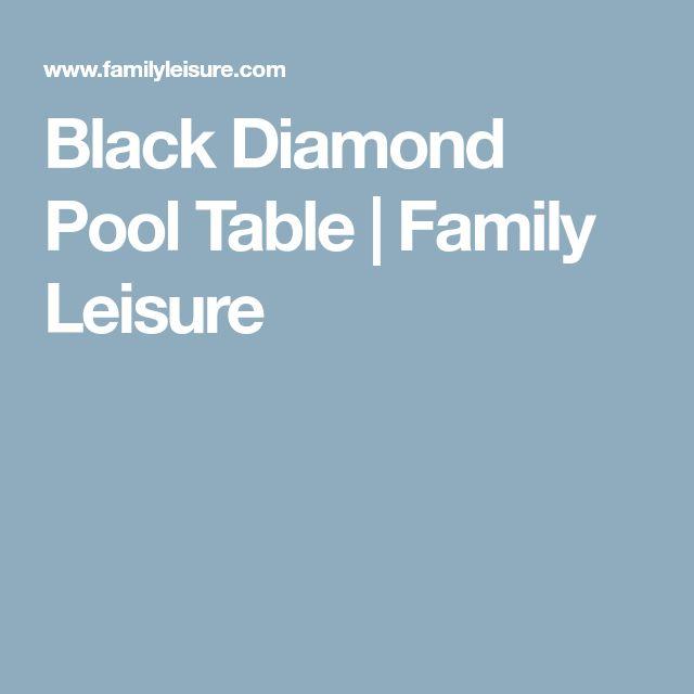 Black Diamond Pool Table | Family Leisure