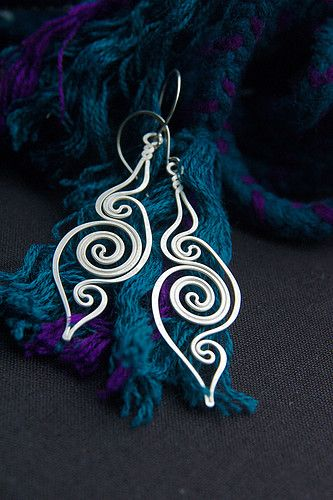 handmade wire earrings - Bing Images