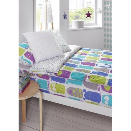 Saco nórdico infantil con cremallera FUNNY ONES cama de 90 multicolor