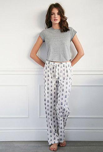 Paisley Floral PJ Pants | Forever 21 - 2000097115 Lingerie, Sleepwear & Loungewear - http://amzn.to/2ij6tqw