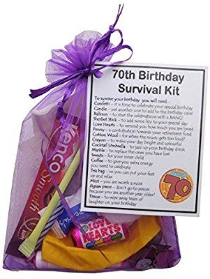 70th Birthday Survival Kit Gift Amazoncouk Office Products