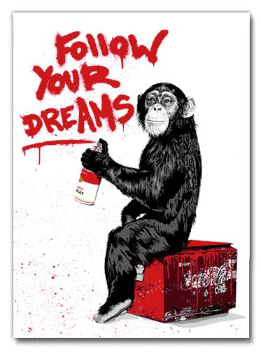"""Mr. Brainwash  """"I wonder how much he paid graphic designers to make this image?""""  -mouse clips"""