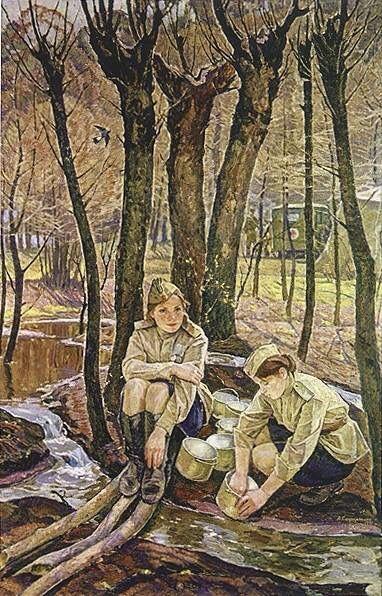 Сафаргалин Асхат Газизулинович (1922-1975) «Вешние воды» 1971
