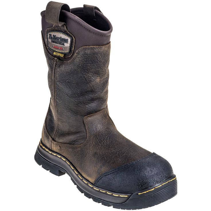 Doc Martens Men's R21808203 Safety Toe Waterproof Brown EH Rigger Boots