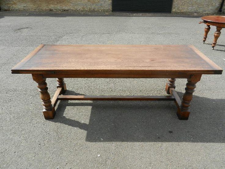 Large Antique Oak Refectory Table 10ft 3 Metre Jacobean