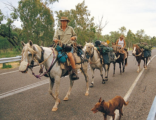 Heidi Douglas packed her life into a few saddlebags to spend two years riding horses and camels around Australia.