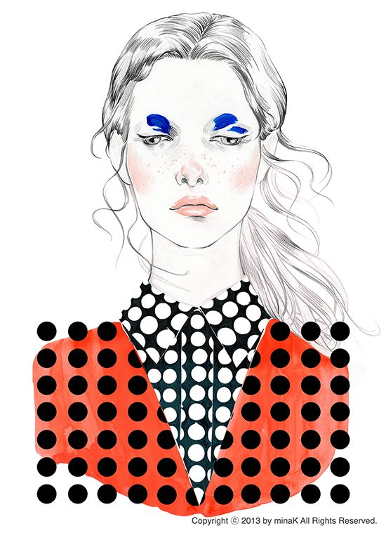 Where's DOT? Mina K _ Fashion illustration www.minak.kr