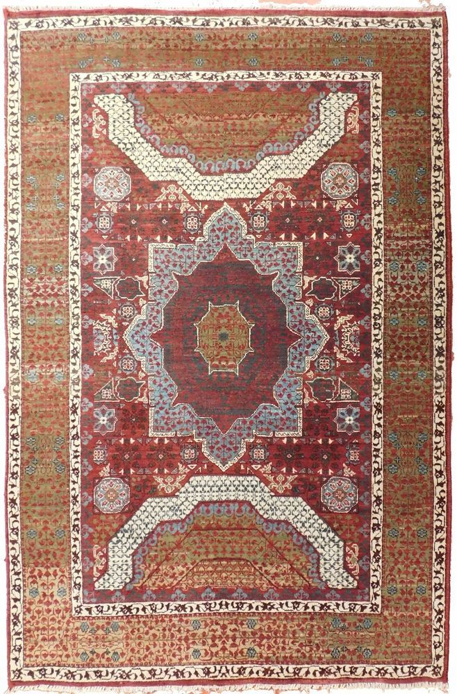 "NLR 455- Handmade Indian rug. 4'x 6'3"" #Handmade"