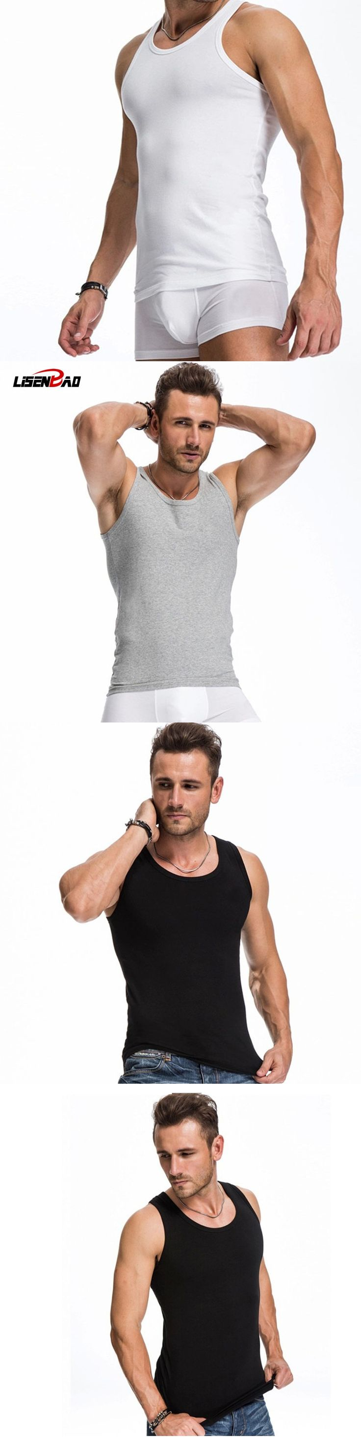 LiSENBAO Mens O-Neck Tank Tops Undershirt,Bodybuilding Equipment Fitness Men gyms Tank Top Golds Vest Stringer Undershirt Cotton