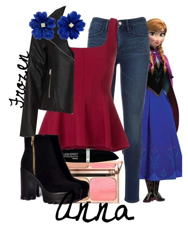 """Anna"" by defyingaddams ❤ liked on Polyvore featuring Disney, Theory, Zizzi and Max Factor"