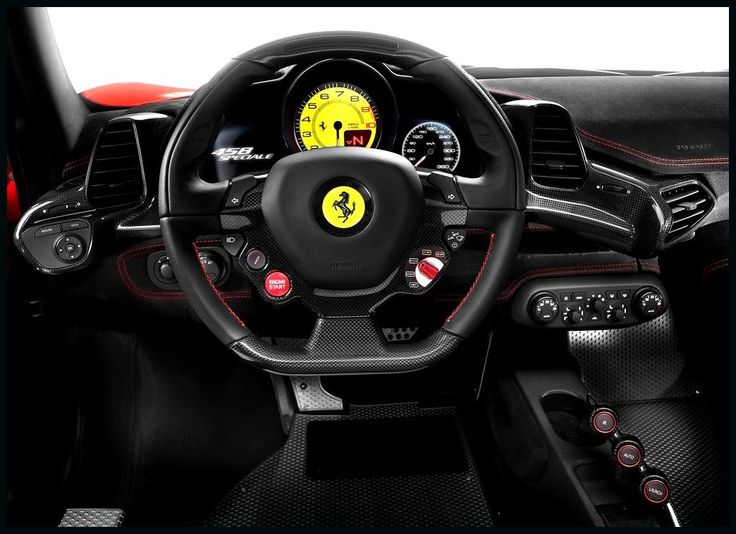 Ferrari 458 Spider Interior Cockpit - 60.6KB
